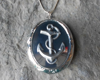 Anchor Locket!!! High Quality!!! Nautical,Naval, Navy, Navy Wife Photos, Keepsakes