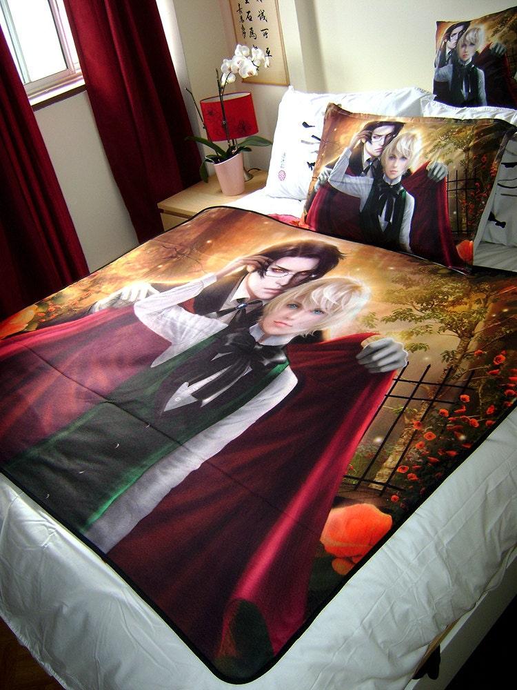 Kuroshitsuji Alois Trancy And Claude Faustus Art Blanket