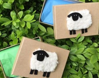 Knitted Sheep Box