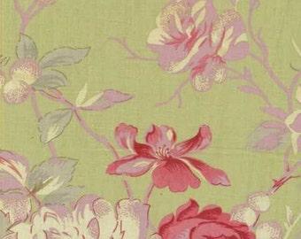 Mas d'Ousvan - Manon Green Pink - 1/2yd