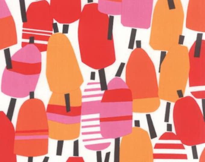 Beach House - Coastal Buoys Red Orange Pink - 1/2yd