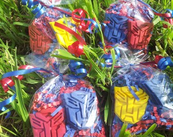 SALE!!! 20 bags transformers inspired party favors crayons boys superhero party  robot party favors