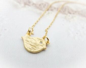 Baby Birdie Pendant Necklace