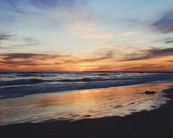 Ocean Sunset, Ocean Photography, Oceanside, San Diego California