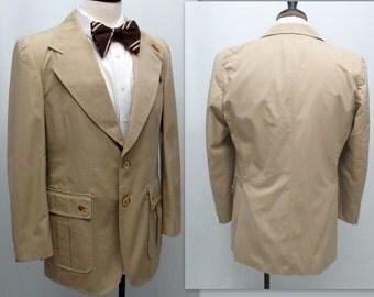 Vintage 70s Men's Sports Coat, Mens Sport Coat, Mens Preppy Jacket
