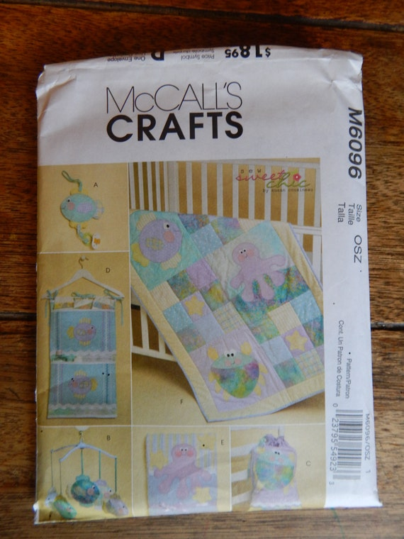 Baby Quilt Patterns Mccalls : McCall s 6096 Appliqed baby quilt pattern with under the