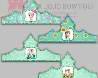 Frozen Fever Paper Crown, Frozen Fever Party Hat, Paper Tiara Printable for Frozen Fever Birthday