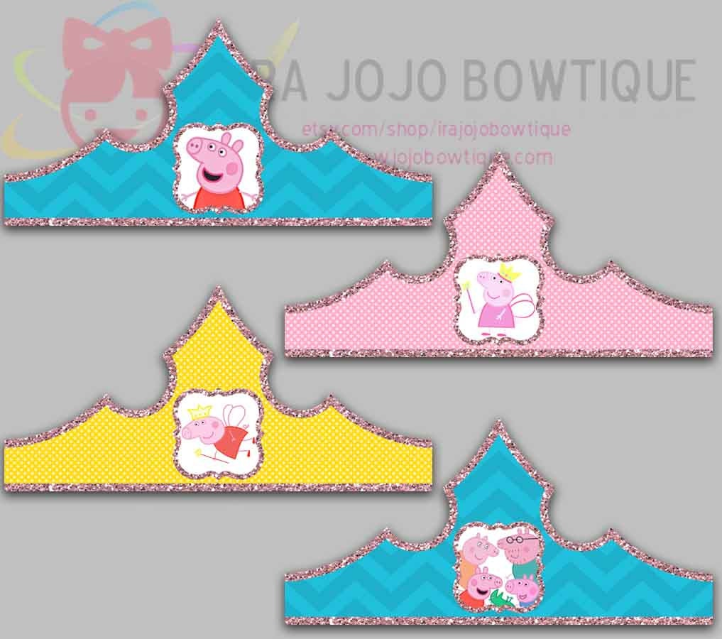 pinky pig fairy princess paper crown