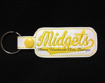 Midgets - In The Hoop - Snap/Rivet Key Fob - DIGITAL EMBROIDERY DESIGN