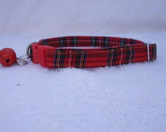 Royal Stewart Tartan Cat Collar with breakaway buckle