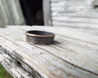 ALABAMA Quarter State Ring MADE to ORDER... Extended ship time is needed