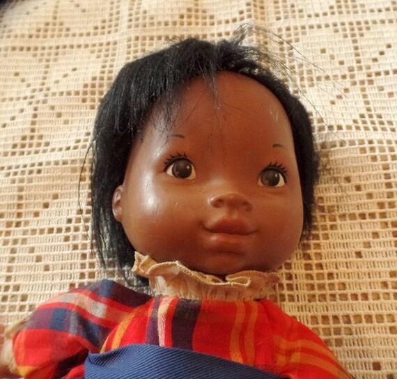 1973 Fisher Price Black Baby Elizabeth Lap Sitter Doll