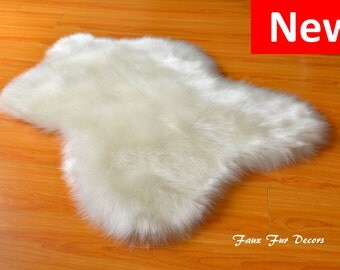 Skinny Sheep Shaggy Cute Designers Area Rug Faux Sheepskin Plush Faux Fur Flokati Throws Accents Decors Home Rugs