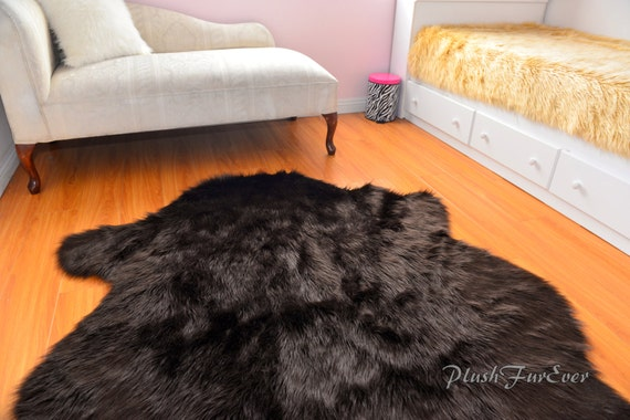 nouveau buffalo ours polaire forme tapis peluche luxueux en. Black Bedroom Furniture Sets. Home Design Ideas