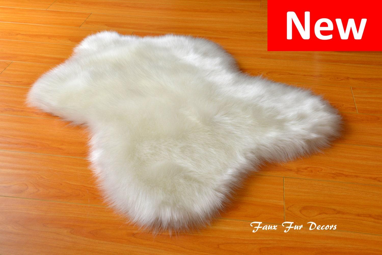 Skinny Sheep Shaggy Cute Designers Area Rug Faux Sheepskin
