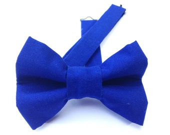 Royal blue bow tie, Black Bow Tie, Black Tie Bow Tie, Blue Necktie, Royal blue Necktie,