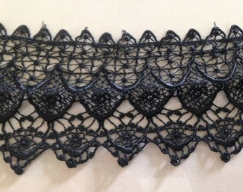 "Black  lace ,3.5"" Black Lacy Lace,Costumes Lace, Black costumes lac - Costume lace, Halloween black lace and trims,Black spider lace"