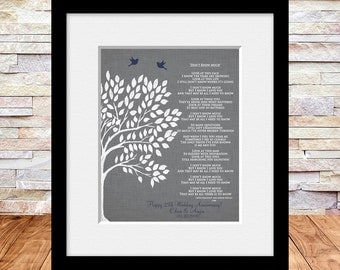 Don't Know Much Lyrics,  Song Lyrics Suitble for 25th Wedding Anniversary, Anniversary Gift, Their LOVE Song Lyrics