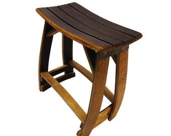 Wine Barrel Stool/ Patio Stool/ Outdoor Stool/ Bar Stool/ Barrel Art/ chair/ stool