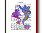Ariel Poster Little Mermaid 7 Poster Watercolor Print Disney Princess Giclee Wall Art Print 8x10 Wall Decor  Book Page Upcycled Dictionary