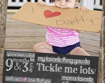 First Father's Day Card- Chalkboard Printable