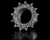 HARAMARA Silver Ear Tunnel- 4mm - 30mm, Tunnels/Plugs, 92.5 Sterling Silver, Tribal Jewellery, Gauge Jewellery, Flesh tunnels, (Code 2)