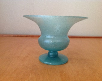 Vintage Glass Vase with Bubbles Throughout.