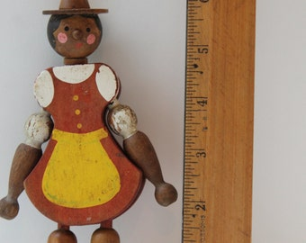 Vintage Wood Articulated Doll