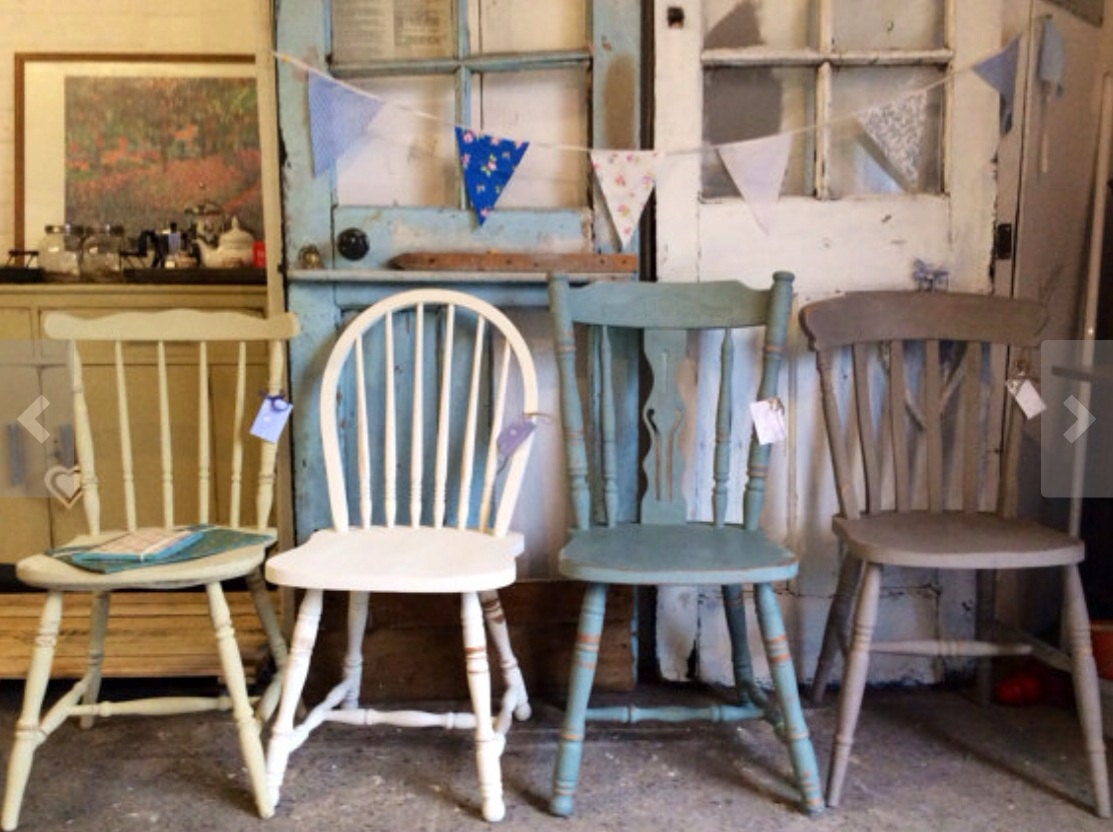 British Bake Off Vintage Mismatched Dining Chairs Haute