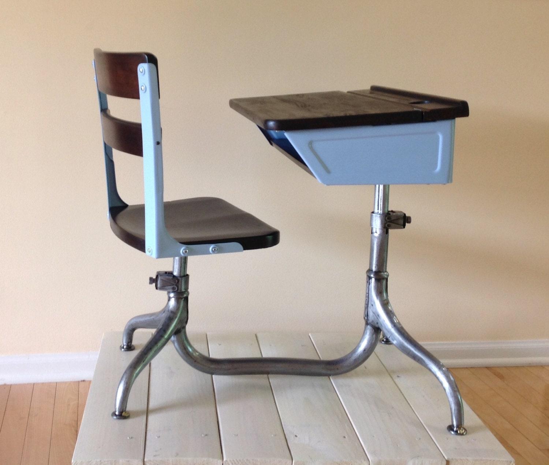 Vintage School Desk Child S Desk Chair Combo Haute Juice