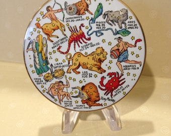 Stratton England Powder Compact Astrology Zodiac Signs / Artist Signed Sensational,Price Reduced, Outstanding Mint Condition 1960's Colorful