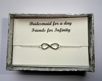 Set of 4 Bridesmaids gifts, Sterling silver Infinity bracelets, Infinity bracelets, Set of 4 friendship gifts, Infinity jewelry