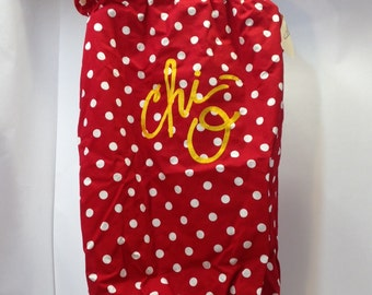 Chi Omega Cloth Laundry Bag
