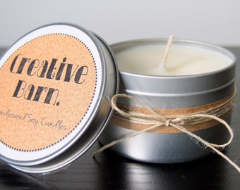 Natural Soy Wax Tin Candle