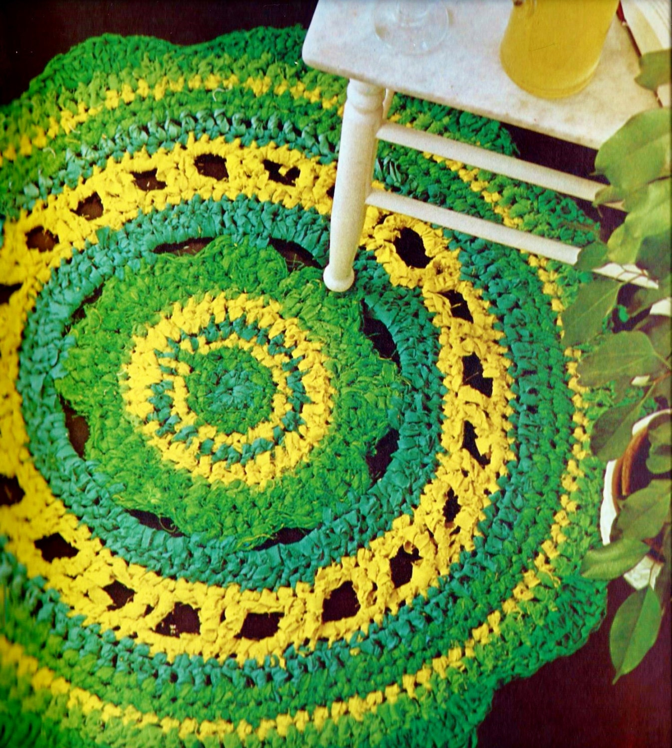 Rag Rug Vintage Crochet Pattern Instant Download