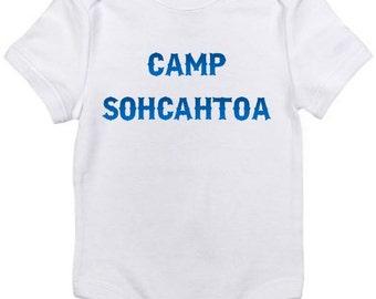 Camp SOHCAHTOA funny cute math baby onesie