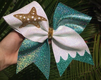 SAVE THE OCEAN Cheer Bow