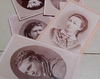 Carte de Visite circa 1873 quantity 5