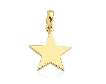 Star 14k Solid Gold Pendant