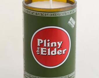 Beer Bottle Candle with Soy Wax Russian River 'Pliny the Elder'