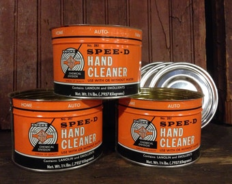 3 Knicks Mend-Rite Hand Cleaner gas station advertising tin can