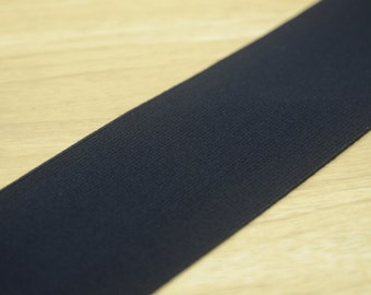"3""  75 mm Black and White Comfortable Plush Elastic , Soft Elastic Band, Waistband Elastic,Sewing Elastic"