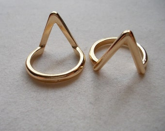 Gold Chevron Knuckle Ring