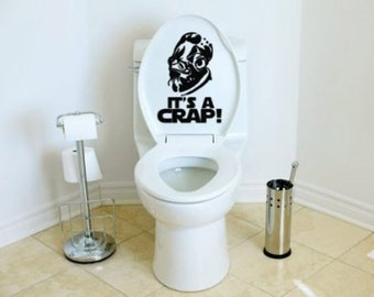 Star Wars Inspired It's A Crap Toilet Decal Admiral Ackbar It's a Trap