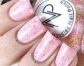 Pink Lemonade-Light Pink Crelly Glitter Mix Indie Nail Polish by Noodles Nail Polish