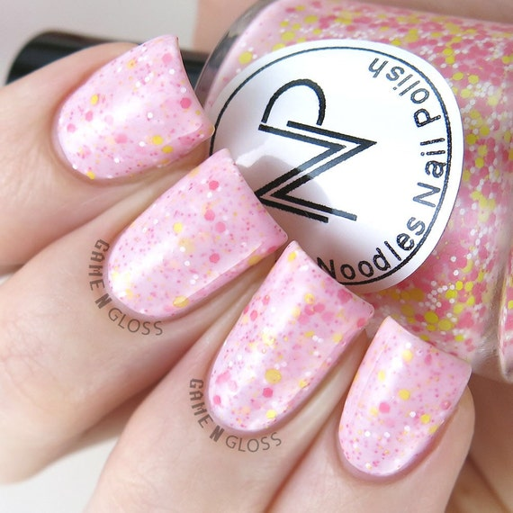 Pink Lemonade-Light Pink Crelly Glitter Mix Indie Nail Polish