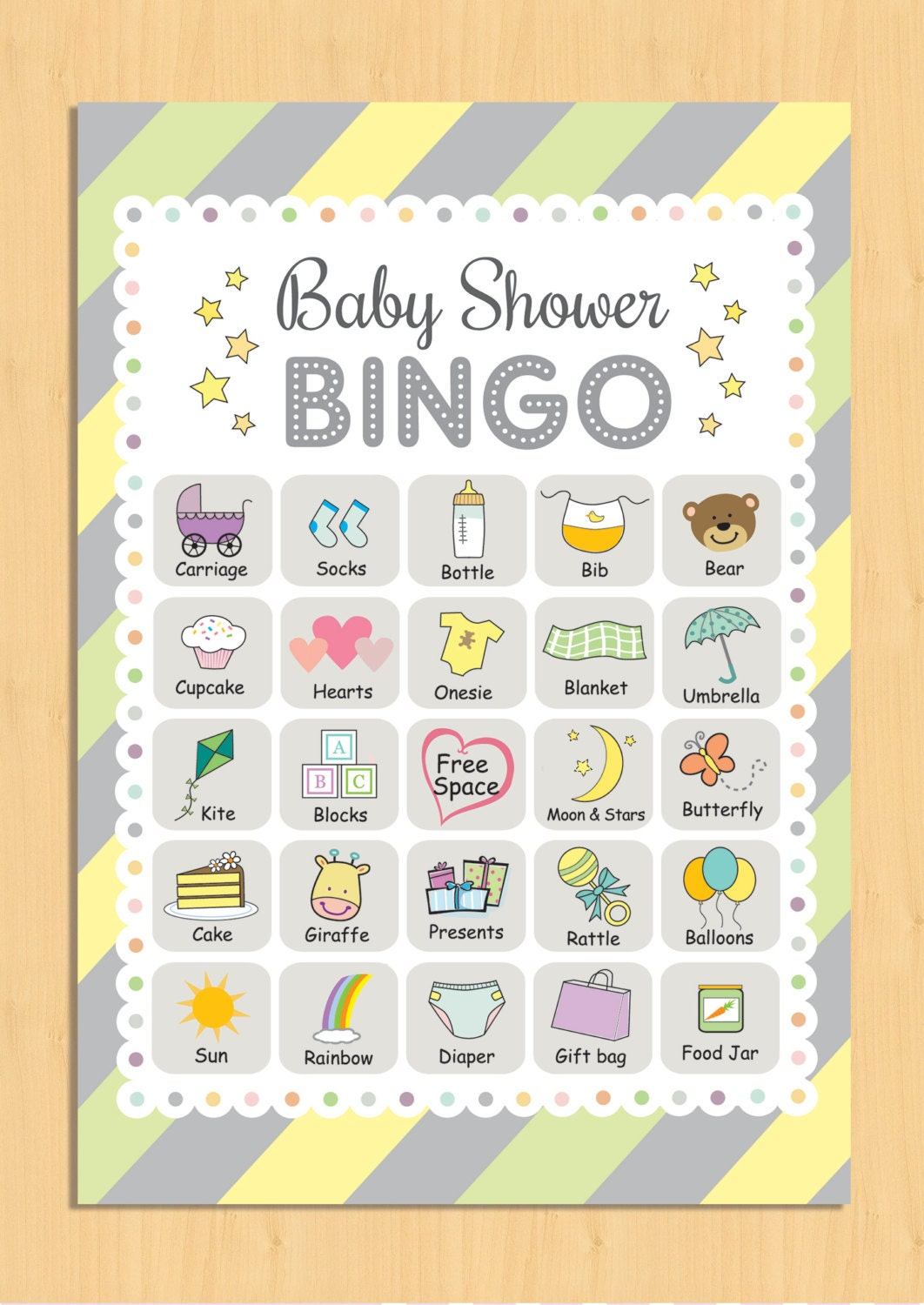 It's just a picture of Sly 40 Free Printable Baby Shower Bingo Cards