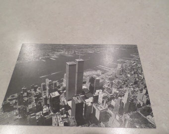 World Trade Center Postcard 1973 Opening of the Observation Deck