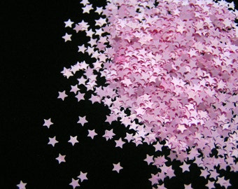 solvent-resistant glitter shapes-pastel pink extra-small stars
