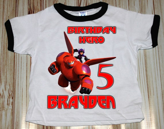 Big Hero 6  Ringer Shirt ~ Baymax Birthday  Shirt PERSONALIZED ~ Custom